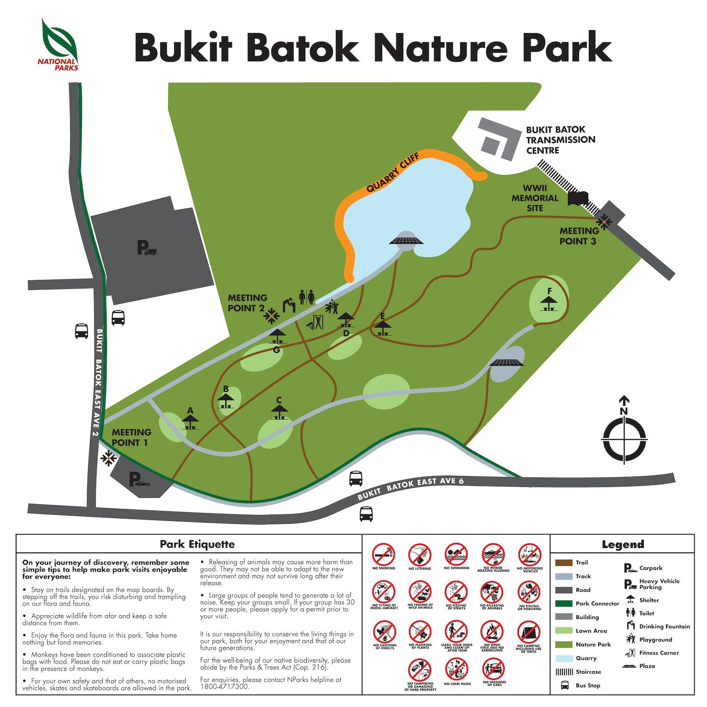 Pefect Ten - Bukit Batok Nature Park Map Singapore